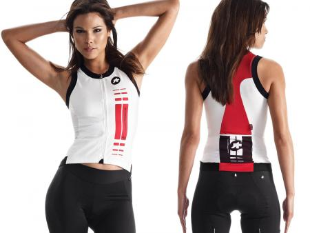 Maillot femme Assos nS.superLeggera Red Swiss