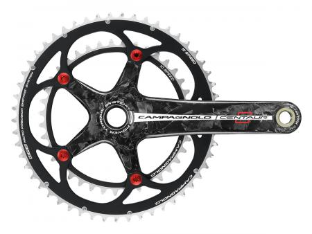 Pédalier Campagnolo Centaur Carbone Black and red 10v