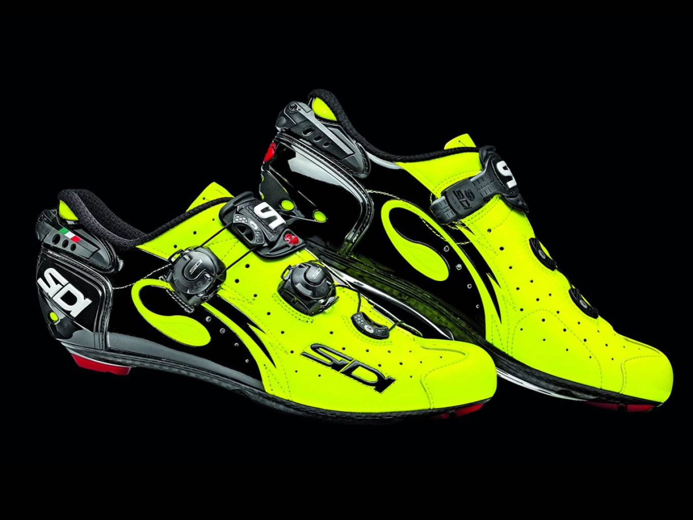 Sidi Wire Carbon Vernice Black-Yellow Fluo